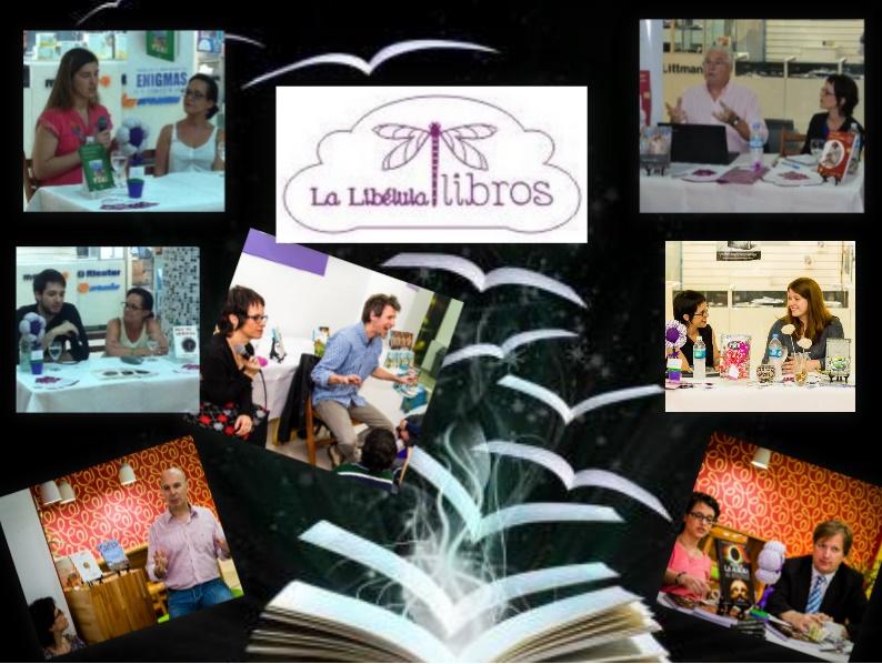 Algunos de los autores uruguayos que visitaron La Libélula Libros.