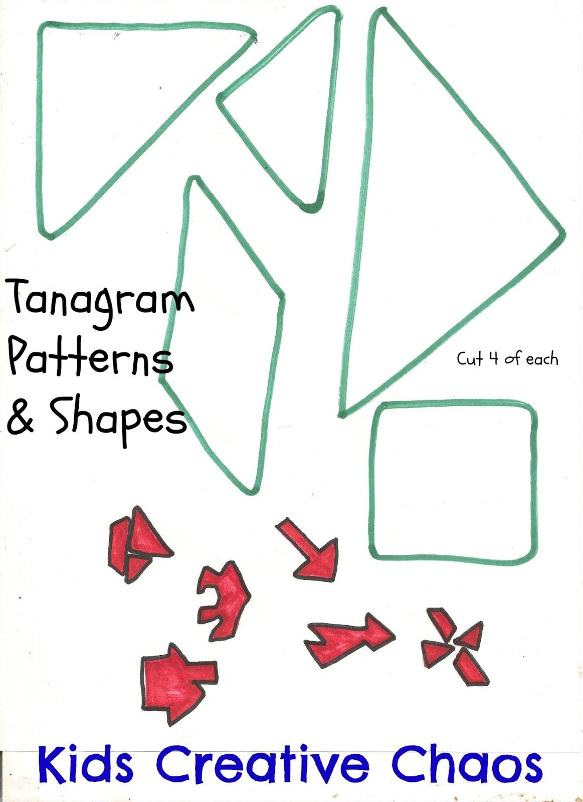 leprechaun or santa placemat papercraft tangram game kids