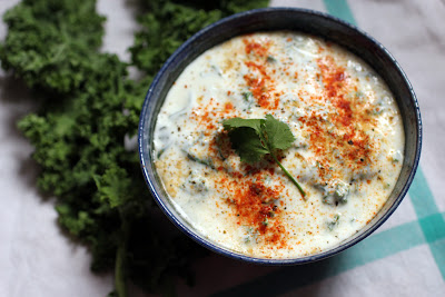Kale Yogurt Raita