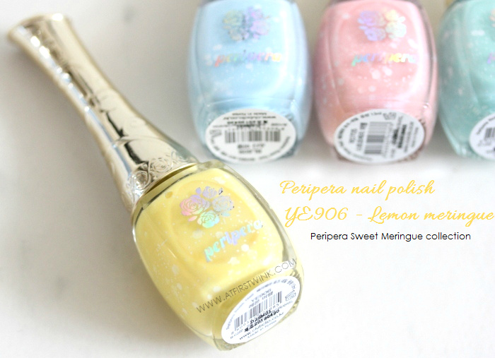 Review: Peripera nail polish YE906 - Lemon Meringue