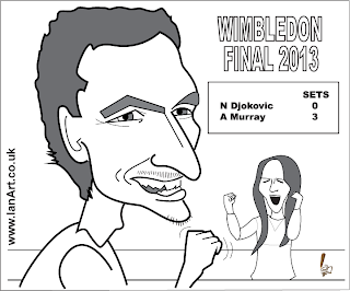 Andy Murray Wimbledon Champion caricature