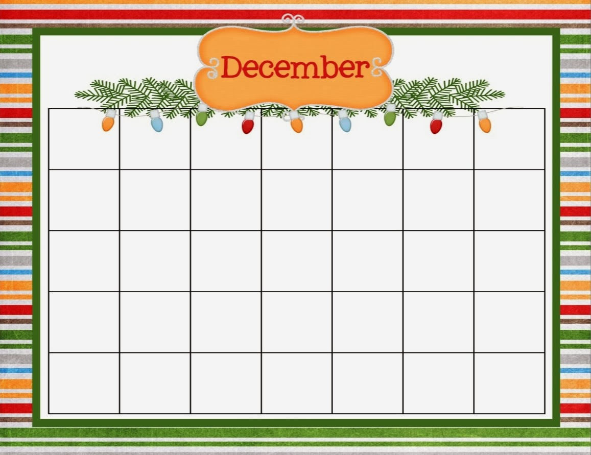 Christmas Calendar 2015 : December christmas calendar template printable and