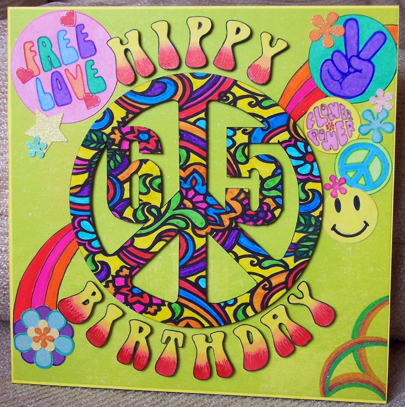 Whitch Craft Hippie 65th Birthday Card – Maxine Birthday Greetings