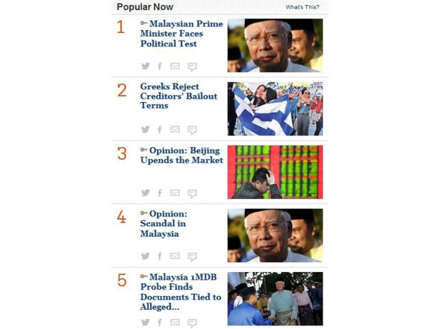 Najib Popular Di Wall Street Journal