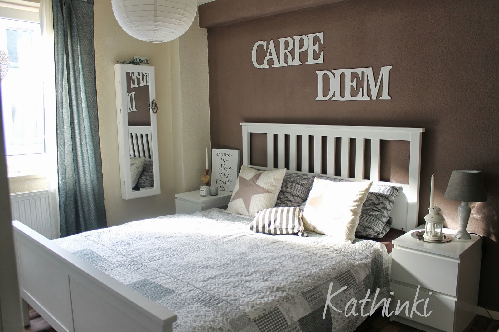 kathinkis dekowelt kuschelzone diy projekt schriftzug carpe diem. Black Bedroom Furniture Sets. Home Design Ideas