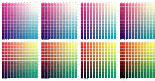 Nabesar colores cmyk for Cartilla de colores