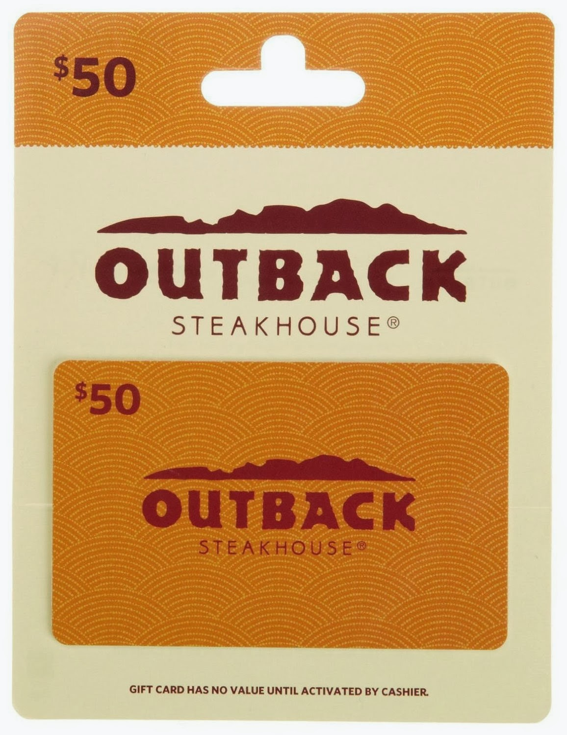 Outback gift card