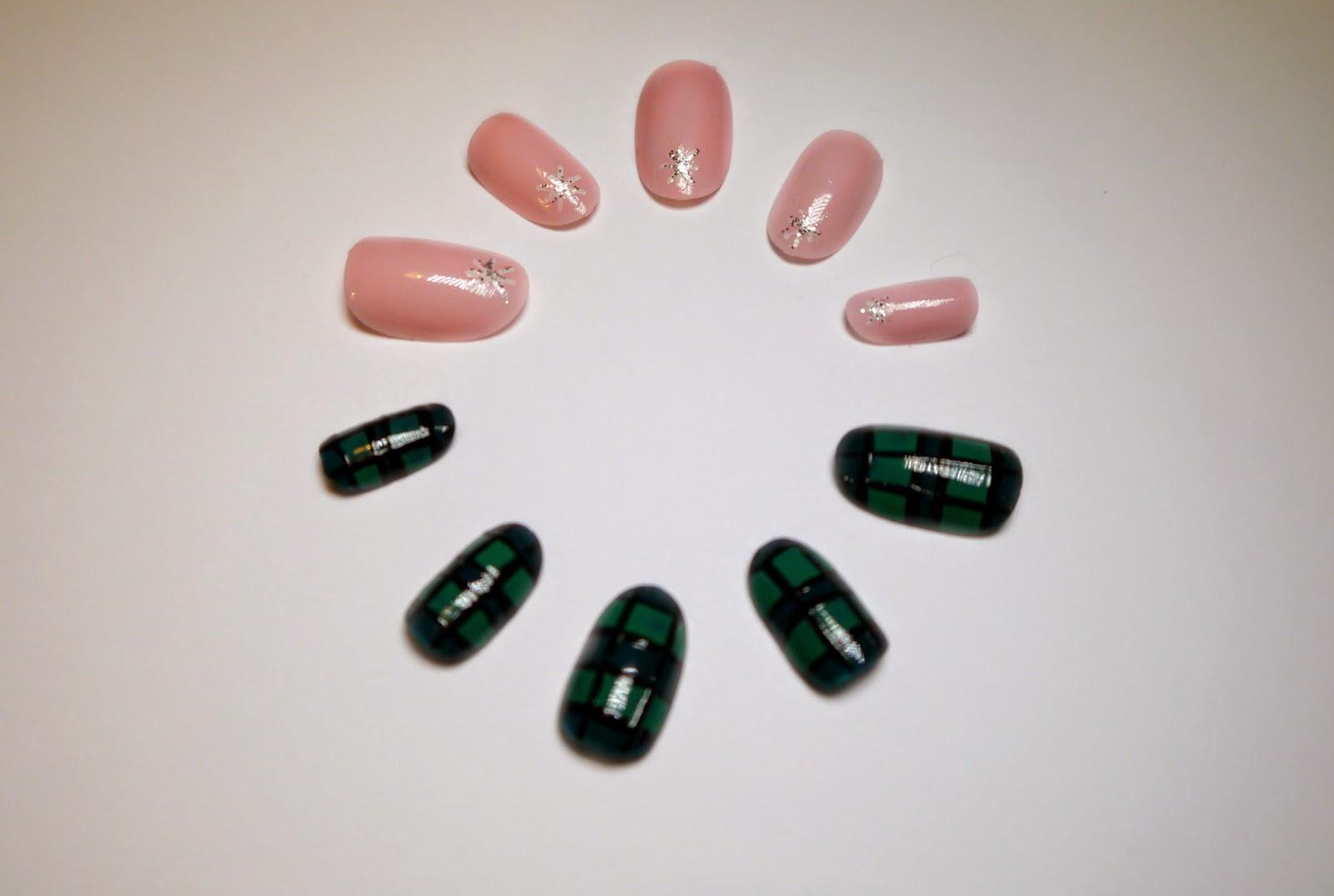 Nait art, tartan nail art, pink nail art, nail polish