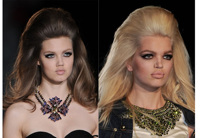 hair how to,how to,diy,big hair, dsquared2, dsquared2 fall 2013,fifties hair,buffant hair,how to tease hair,tease hair technique,volume hair,sixties hair,80s hair
