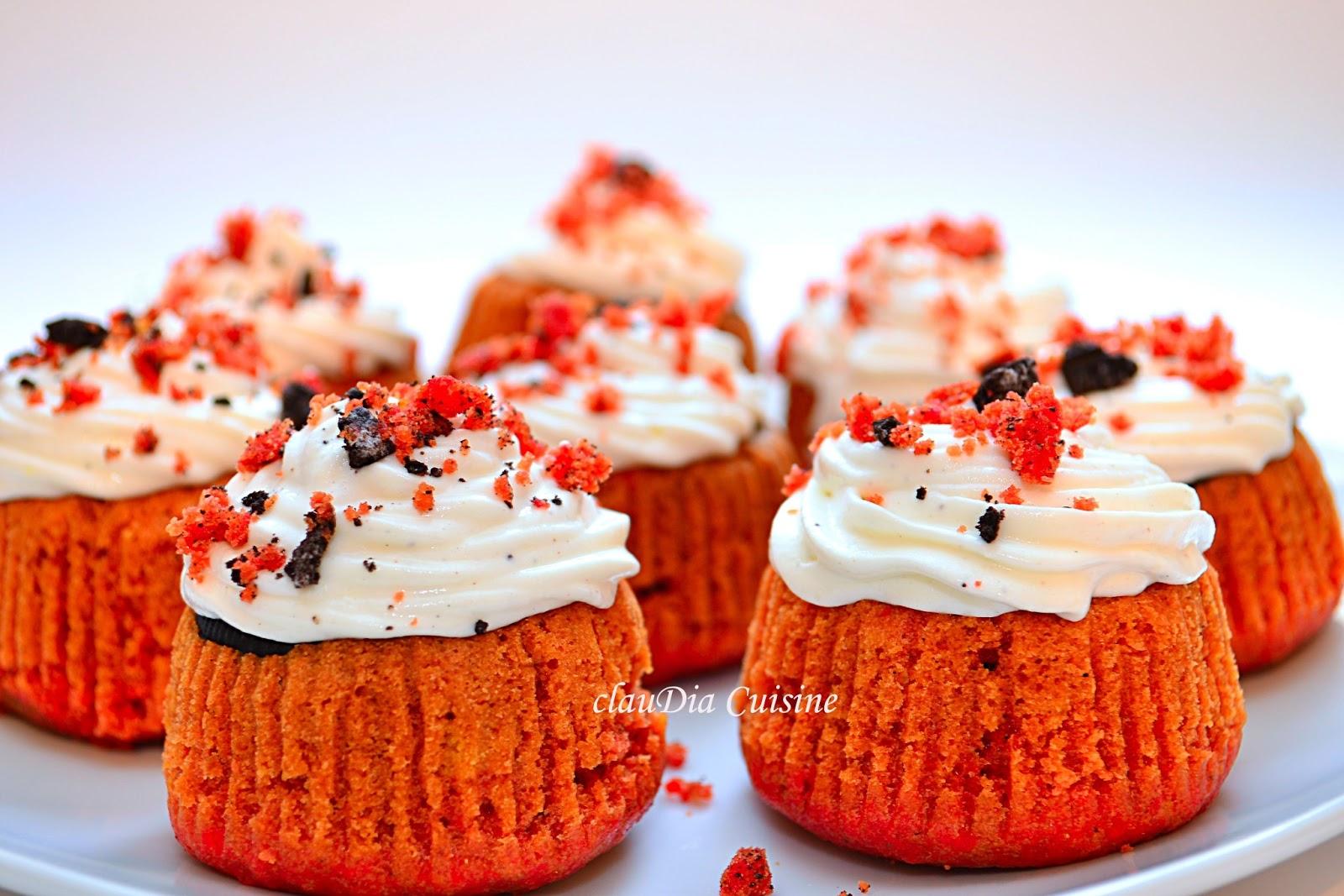 Red velvet cupcakes cu iaurt Nutriday