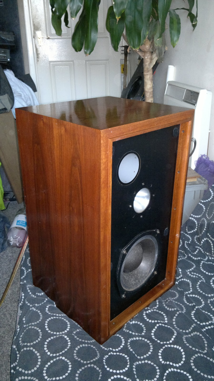 hitachi speakers. just one of these speakers gives a massive sound. they can be bi-amped as well! 1969!! bi-amping! thats when you realize how special are. hitachi t