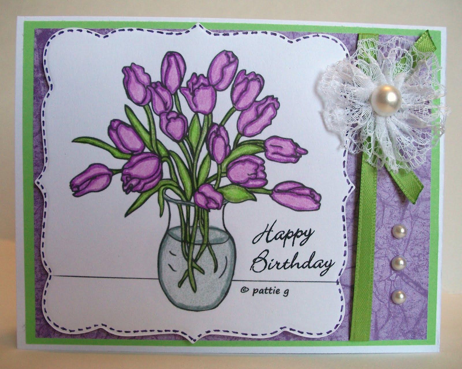 my stamping studio creative contest homemade flowers