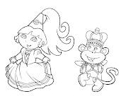 #6 Dora Coloring Page