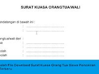 Berkas Sekolah File Download Surat Kuasa Orang Tua Siswa Pencairan Dana BSM Terbaru