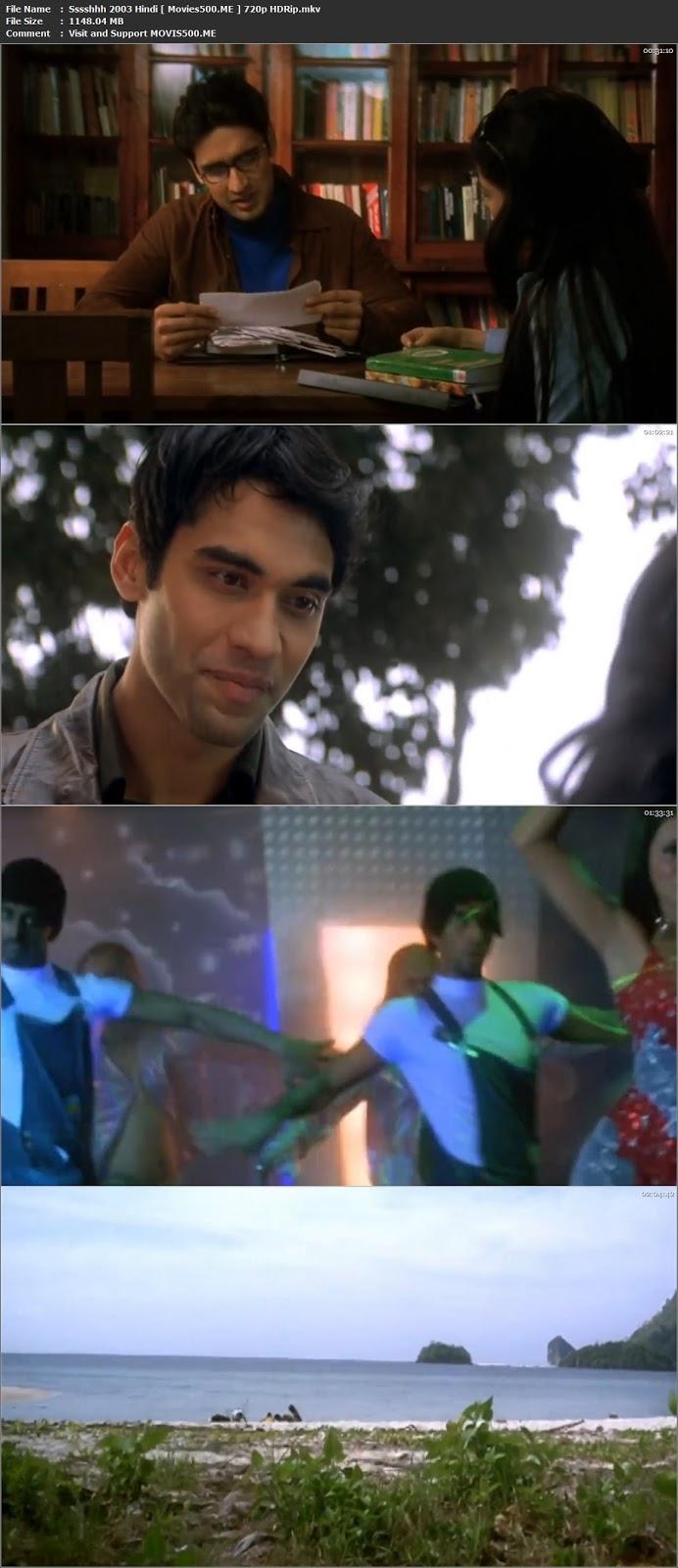 Sssshhh 2003 Hindi Full Movie HDRip 720p 1GB