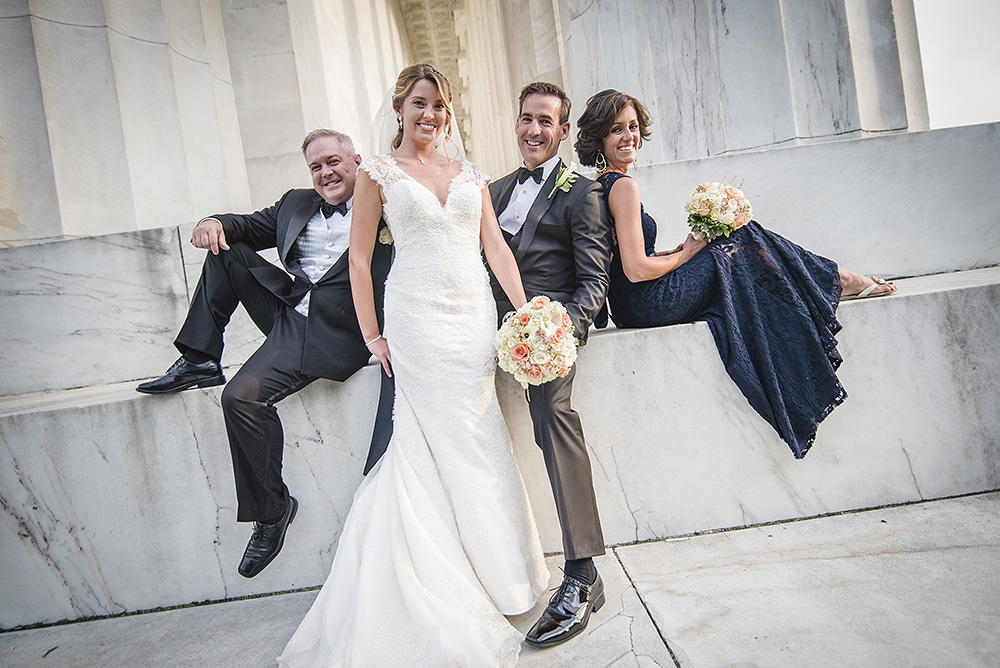 Lincoln Memorial DC Wedding Portraits