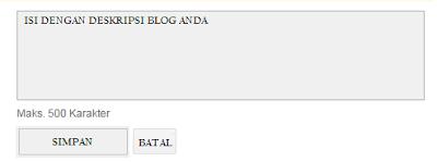 pentingnya deskripsi blog