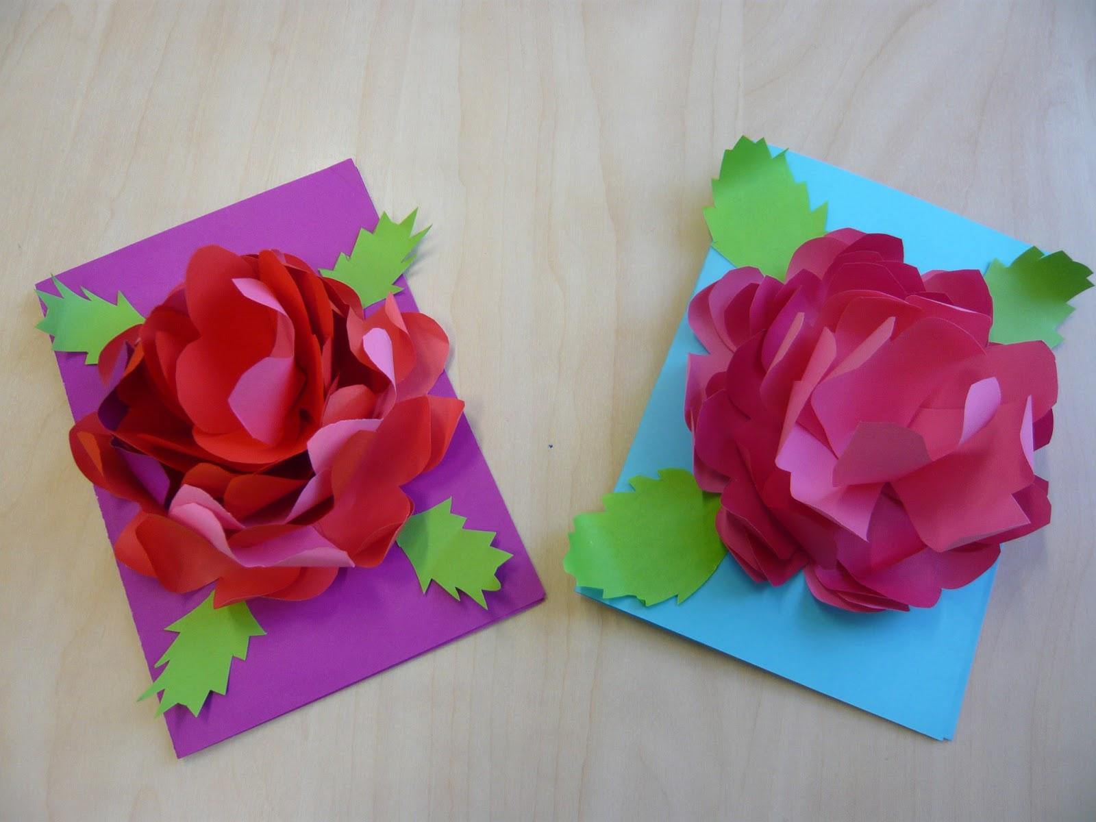 Объемная открытка цветы 216
