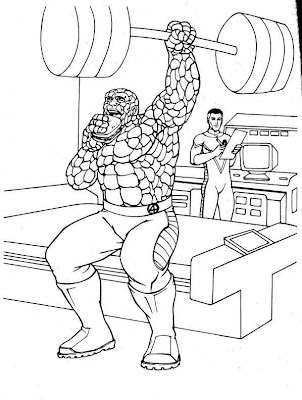 Smurf Coloring Pages on Transmissionpress  Fantastic Four Super Hero Coloring Pages