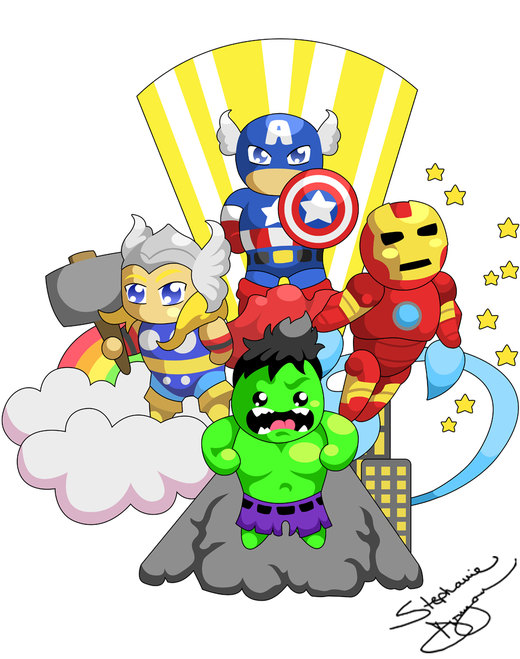 Little Avengers por stephanie-imagined