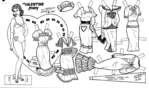 vintage valentine coloring pages - photo#26