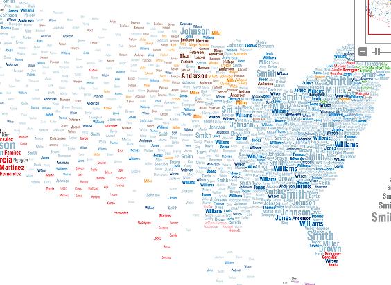 NatGeo US Surname Map - Interactive us surnames map