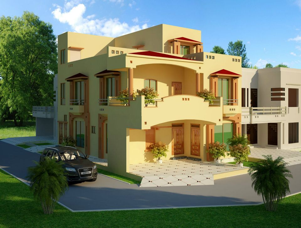 Front Elevation Of 1 Kanal Houses : D front elevation kanal house in lahore