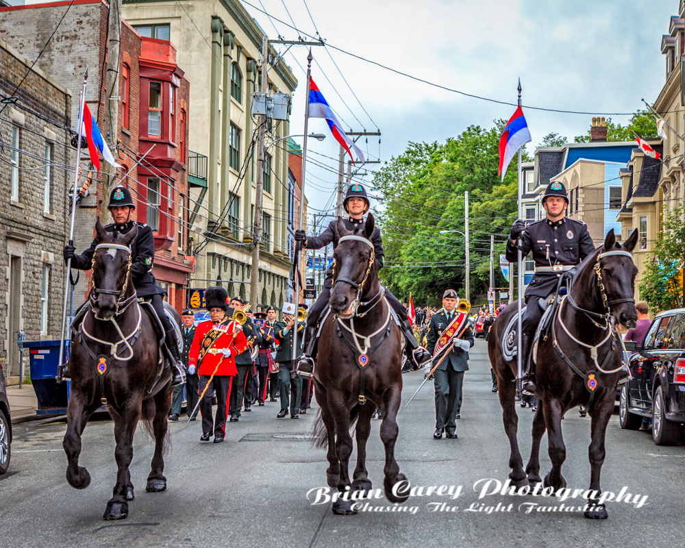 Memorial Day Parade in St John's Newfoundland by Brian Carey