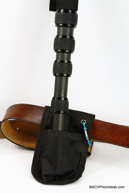 Triopo GL-70 Monopod in Holster attached on belt II