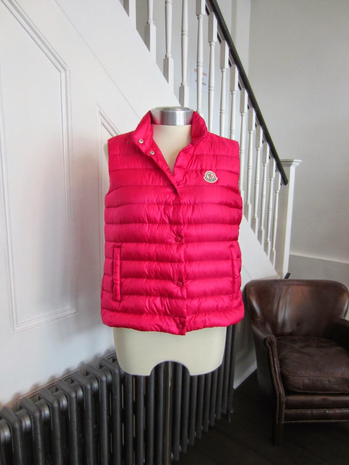 Moncler Pink 'Yui' Gilet/Vest