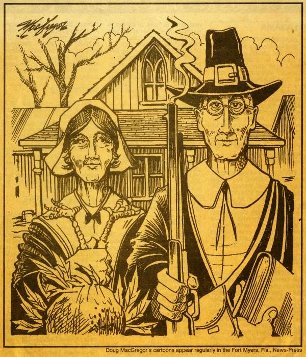And Since It Is Thanksgiving I Will Post One Of Many Images Ive Found Where Featured In An American Gothic Parody
