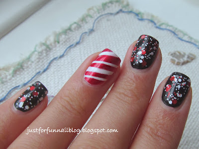 Christmas Glitter design with Wow Cosmetics 358 & China Glaze - Cranberry Splash