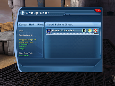 DC Universe Online - Group Loot Window