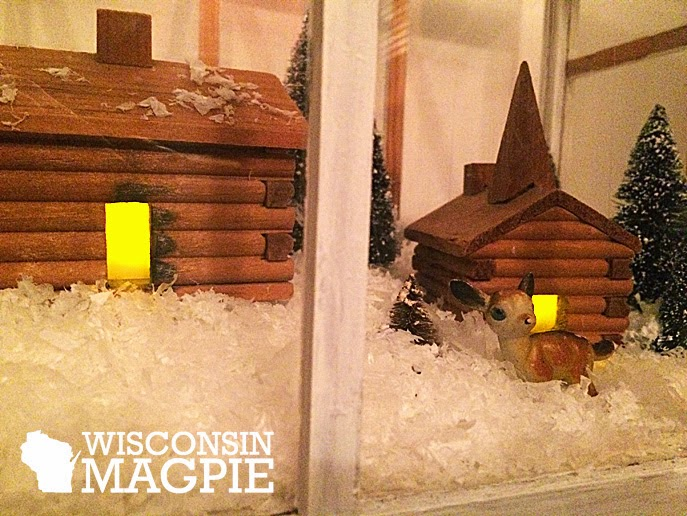 winter scene diorama