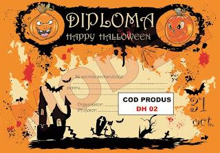 MODEL DIPLOMA HALOWEEN PENTRU ELEVI / SCOLARI - DH02