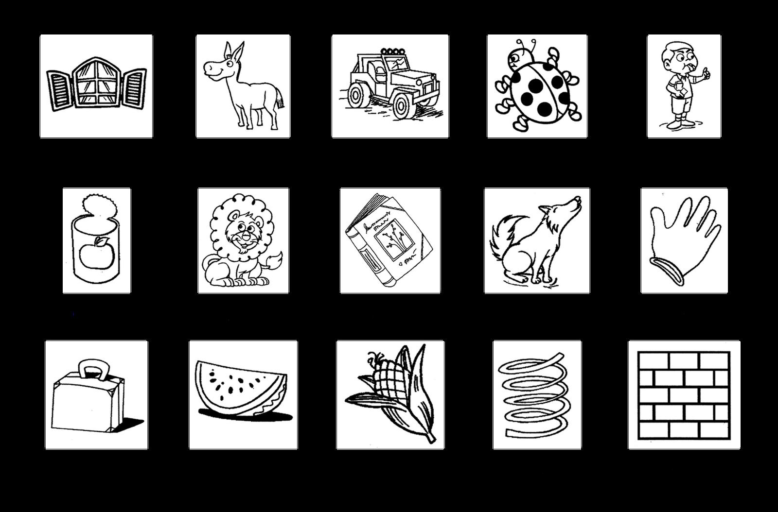 Atividades sílabas Silabário ilustrado letras para cobrir colorir  #666565 1600 1054