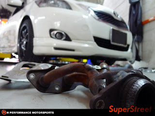 SUPERCIRCUIT Exhaust Pro Shop: Exhaust Extractor for Toyota Vios '08