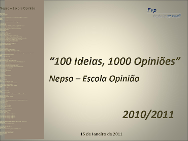 Projecto NEPSO do 7ºD
