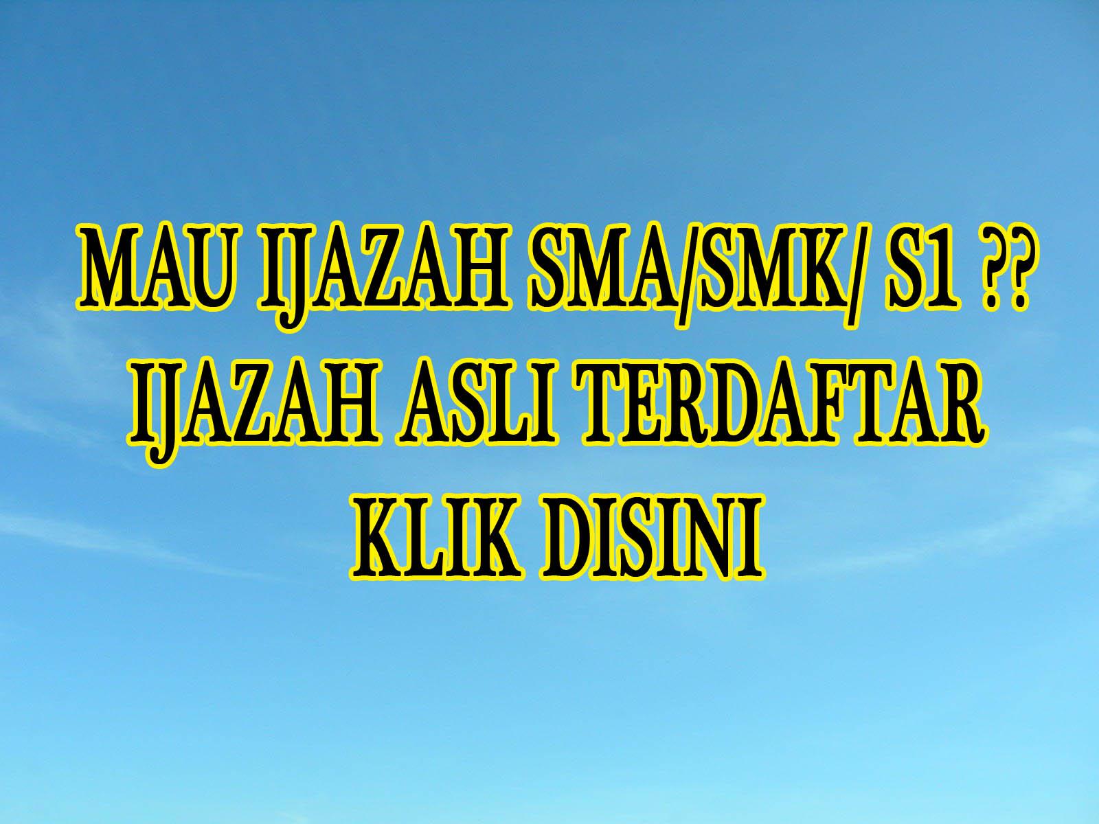 Jual Ijazah