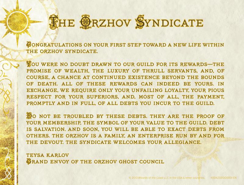 orzhov syndicate magic - photo #31