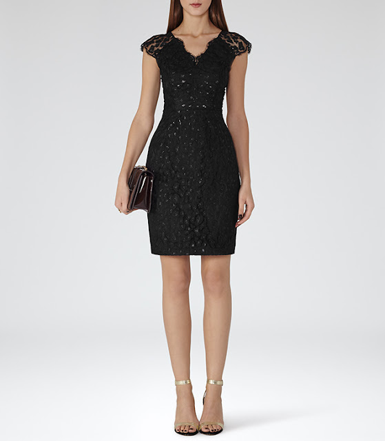 black lace dress reiss, reiss lace dress,