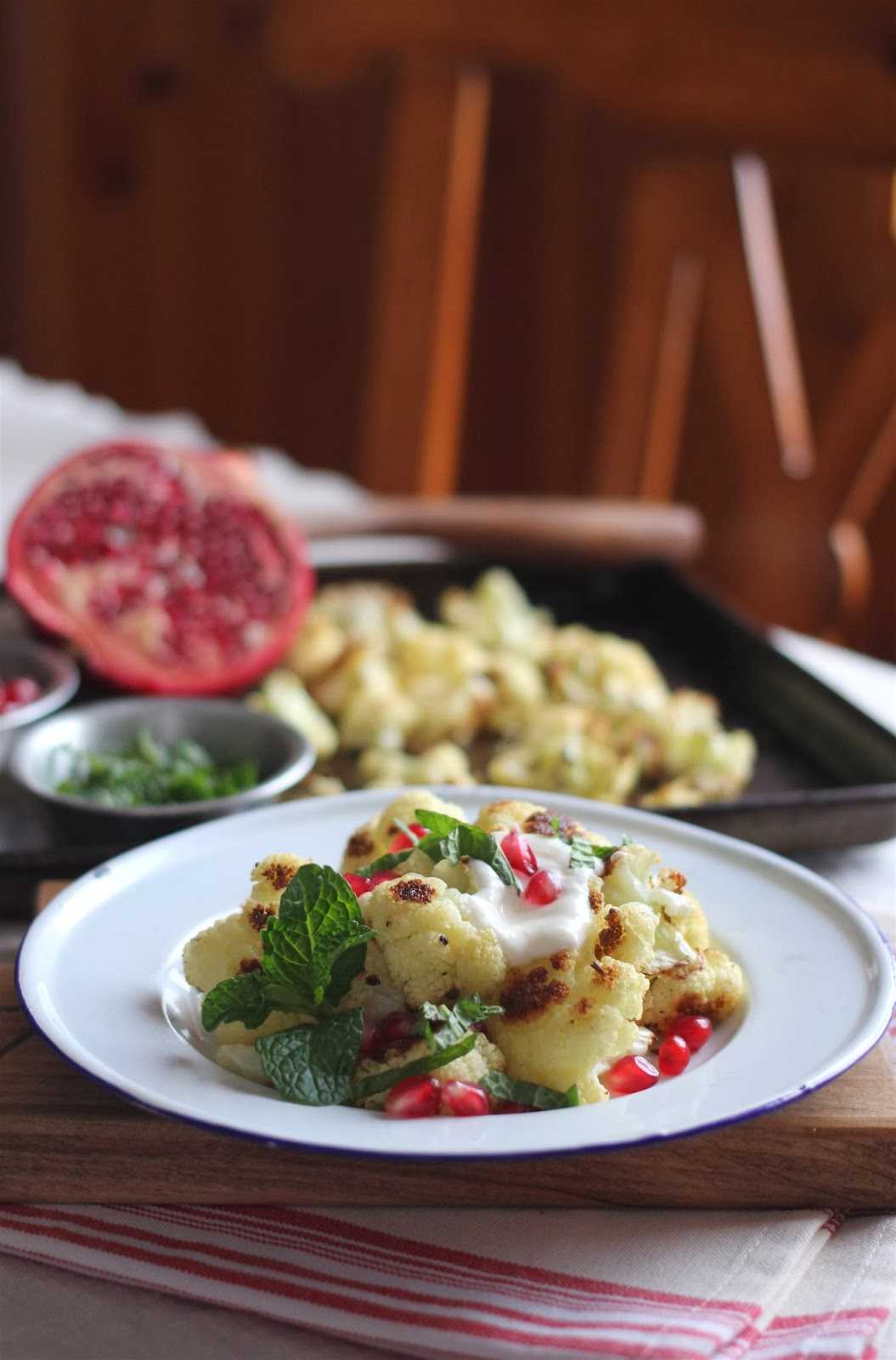 Arctic Garden Studio: Roasted Cauliflower with Cumin and Pomegranate