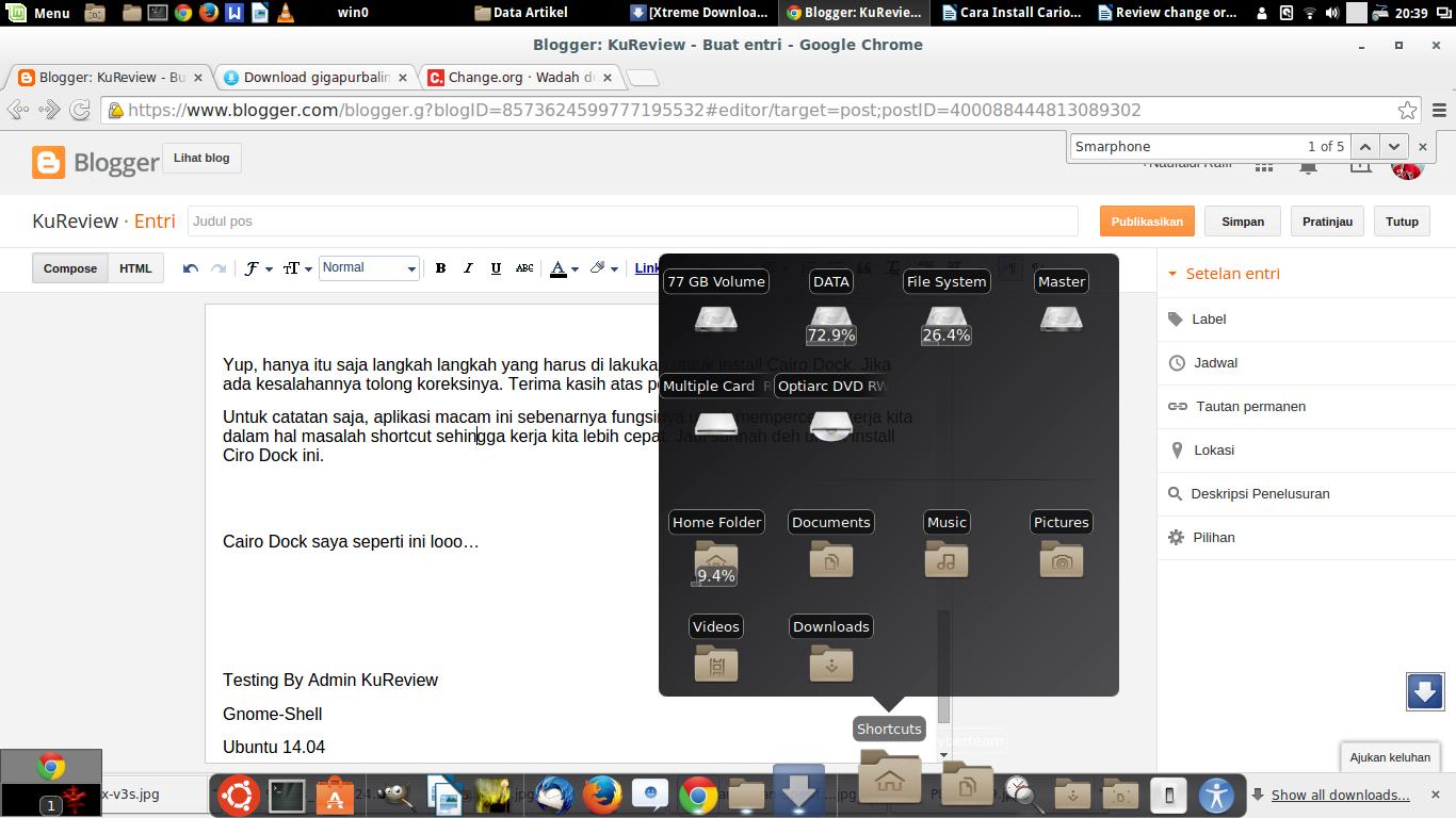 Tutorial Cara Install Cario Dock di Ubuntu / Linux Mint (Rocket Dock Linux)