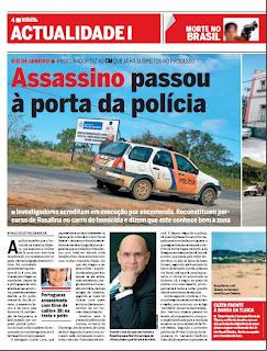 Matérias do editor Paulo Celestino é destaque em Jornal em Portugal.