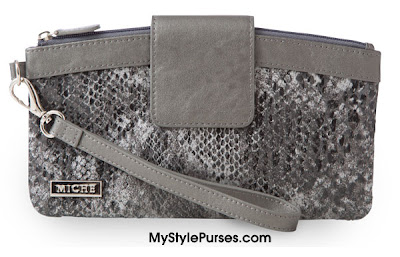 Miche Silver Snakeskin Wristlet ~ November 2012 ~ Miche Cherish Winter Catalog
