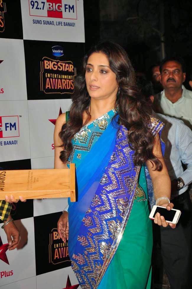 Actress Tabu In Saree