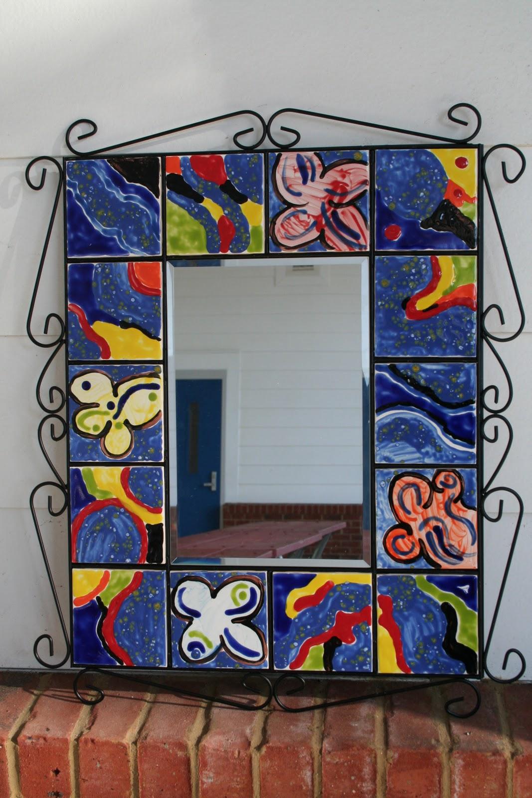 Kim karen 2 soul sisters art education blog ceramic tile ceramic tile mirror school auction dailygadgetfo Gallery