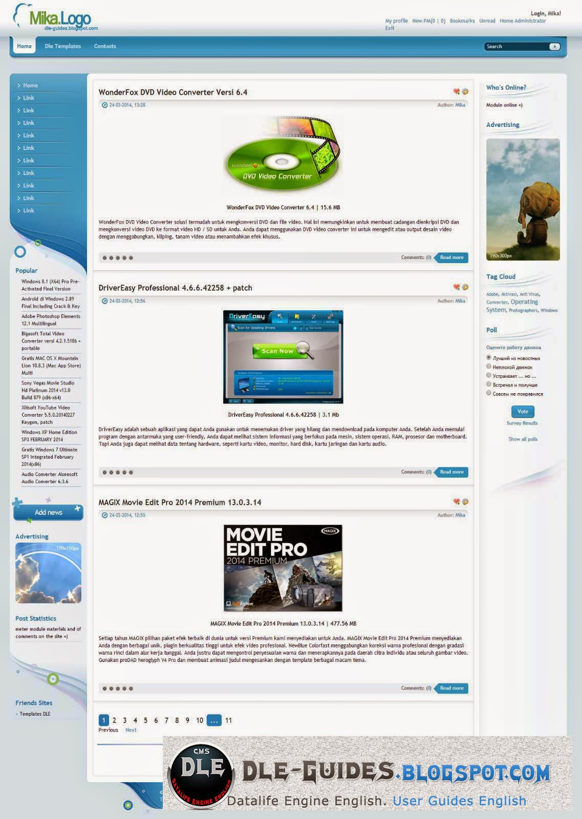 SKYBACK TEMPLATE FOR DLE 10.2 ENGLISH
