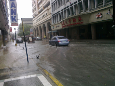 Typhoon Pedring - Escolta is flooded