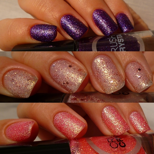 Swatch vernis - Catrice - Collection Crushed Crystals - n°02, n°04, et n°06 (+ Give Away!)